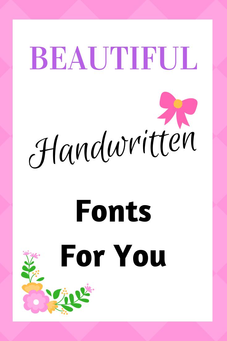 Download Handwritten Font Bundle is back | Handwritten fonts, Free ...