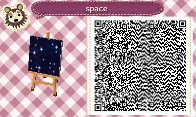 Space Pattern Ac New Leaf Qr Code Animal Crossing Qr Animal