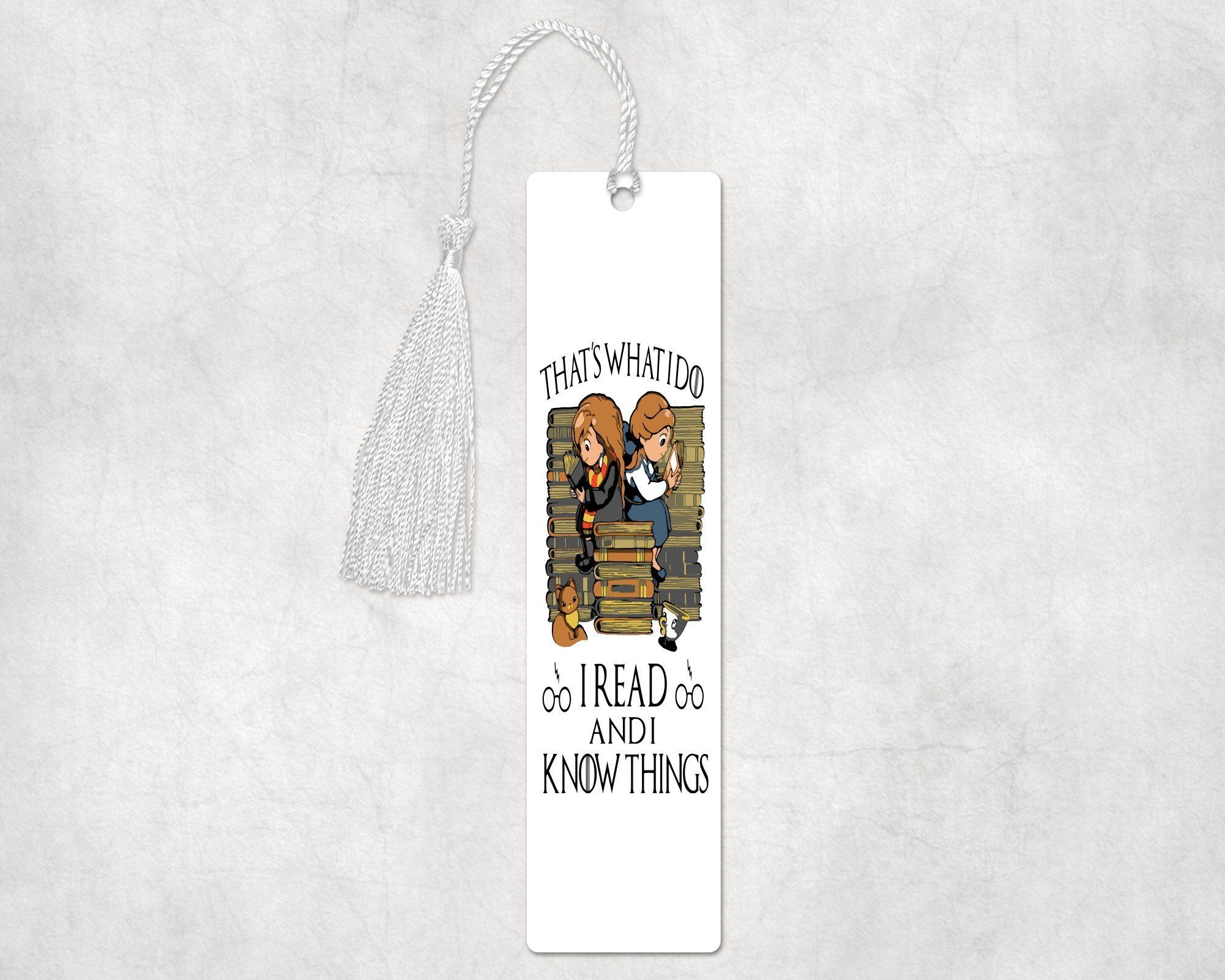 I read and I know things aluminum bookmark, 2x8 inches  #design #handmade #gift #birthday #giftideas #designtimegnc #art #gifts #gifting #giftguide