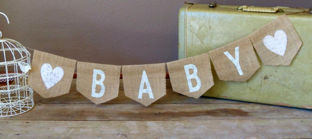 Baby Maternity Burlap Banner / Photography Prop / Baby Shower Decoration. $22.00, via Etsy.