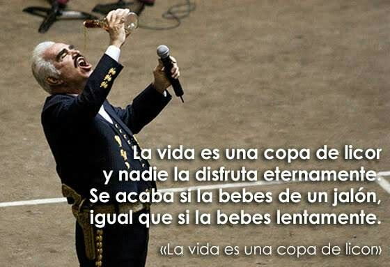 La Vida Es Una Copa De Licor Vicente Fernández Best Quotes Favorite Quotes Inspirational Quotes