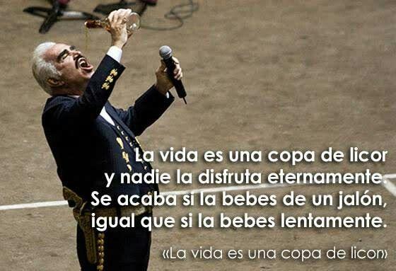 La Vida Es Una Copa De Licor Vicente Fernández Best Quotes Favorite Quotes Inspirational Quotes