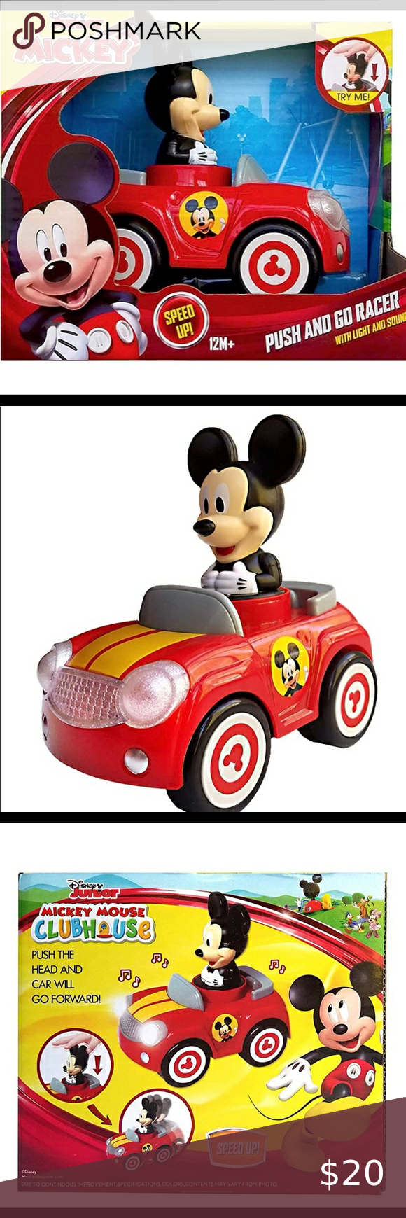 Disney Mickey Mouse Push and Go Racer New Mickey Car 18 Months+