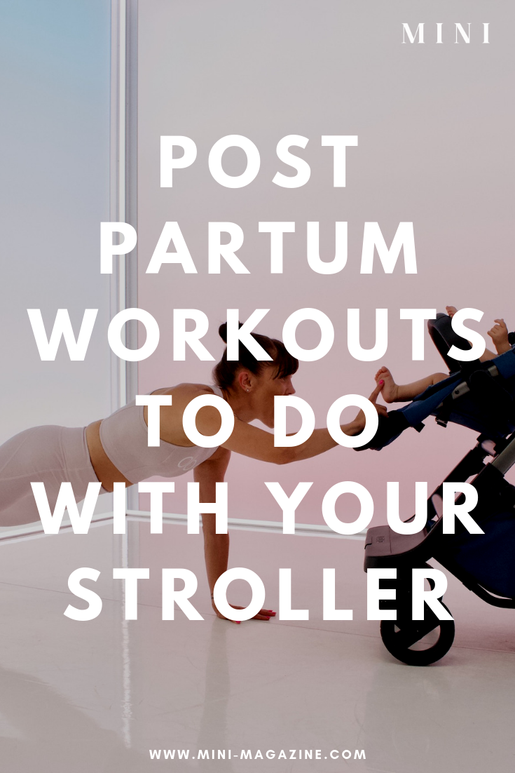 Postpartum Workouts to Do with Your Stroller Postpartum workouts can seem overwhelming after giving birth, but these you can do right at home! Try these at home workouts with your stroller and you'll be surprised they only take as little as ten minutes to complete!
