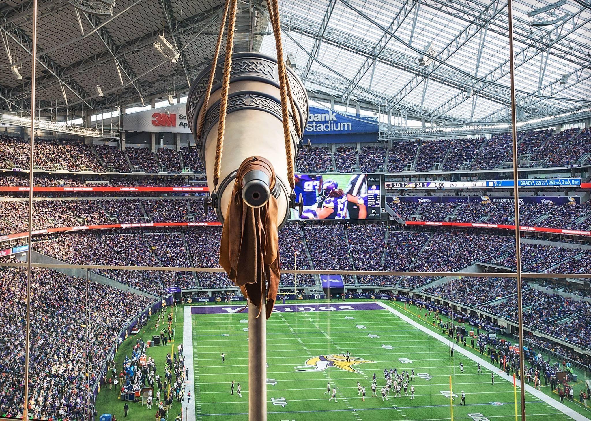 The Vikings Gjallarhorn At Us Bank Stadium Minneapolis Mn Minnesota Vikings Vikings Vikings Fan