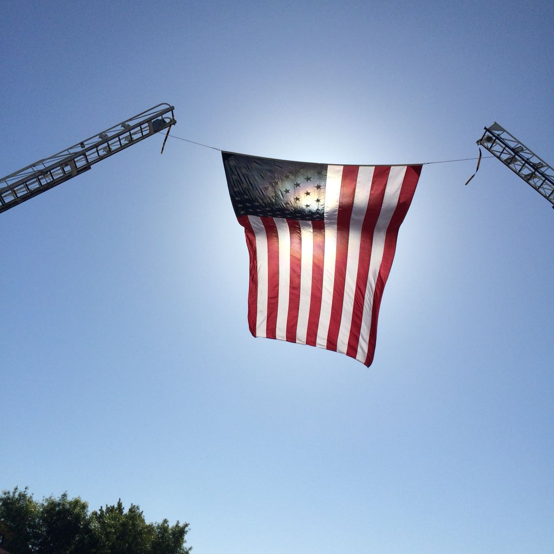 Fire Service Day 2015 At Lacofd Station 129 Garrison Flag Fire Service American Flag Outdoor Decor