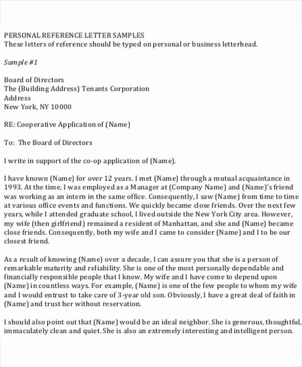 Personal Reference Letter For Coop Template from i.pinimg.com