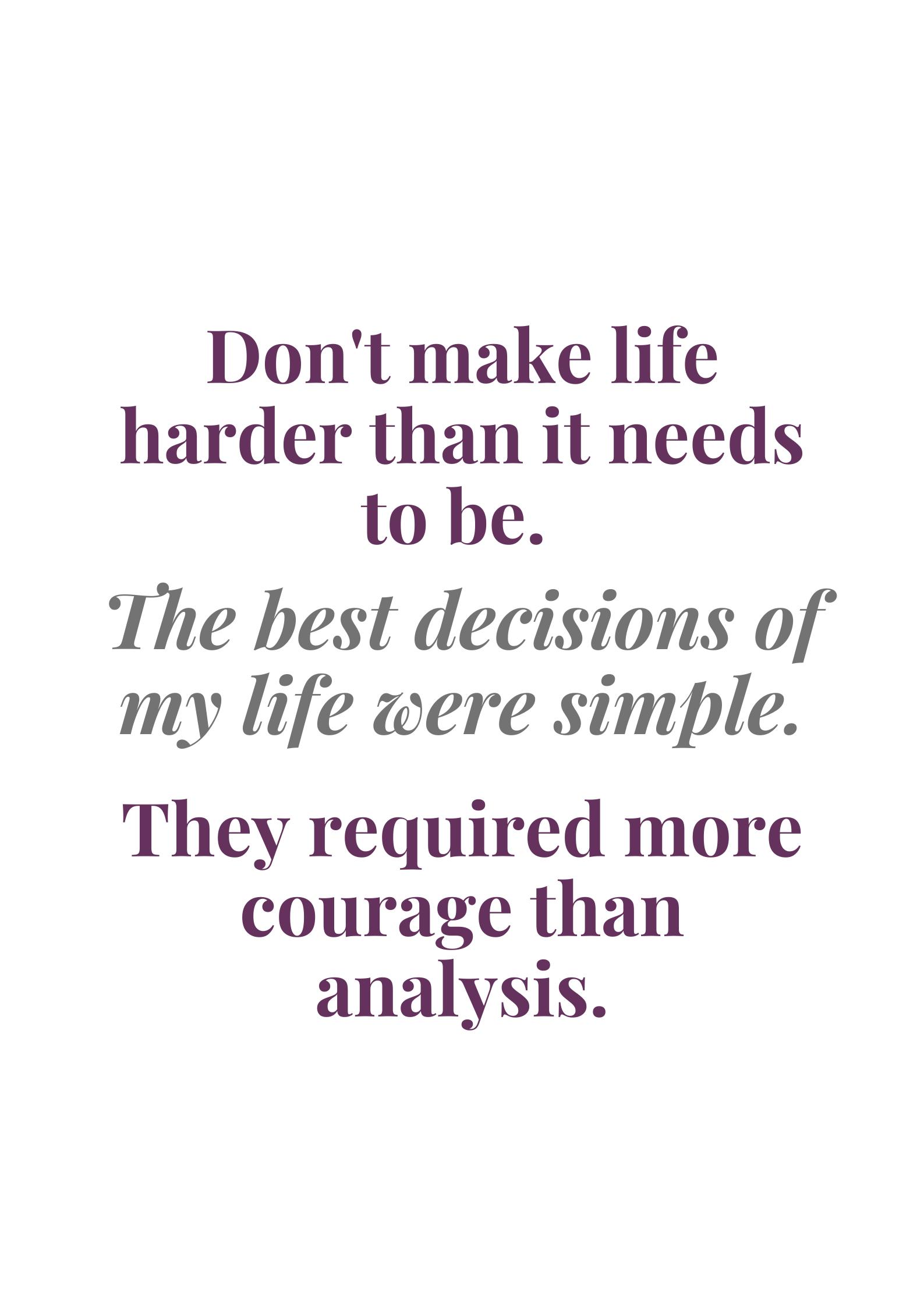 Analysis Paralysis Analysis Words Simple Life