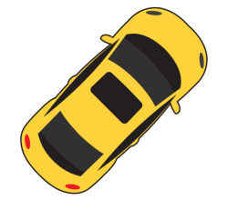 Car Top View Vector Image Car Top View Car Icons Car Cartoon