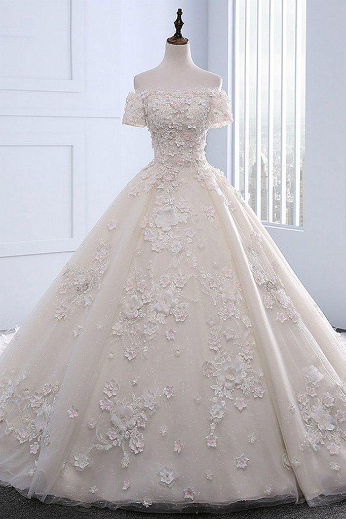 New Arrival Appliques Beaded Wedding Dresses, Sexy Bridal