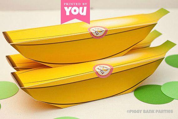 banana favor box diy printable monkey fruit pdf instant download diy favor boxes diy printables favor boxes banana favor box diy printable monkey