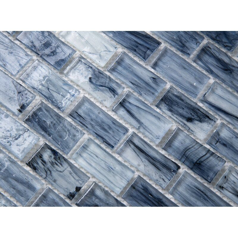 Melay glass fusion glass mosaic 1 x 185 glass brick