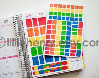 Lego Bricks FUN-ctional Stickers! Set of 37 or 87, perfect for your Erin Condren Life Planner, calendar, Filoflax, Plum Planner!