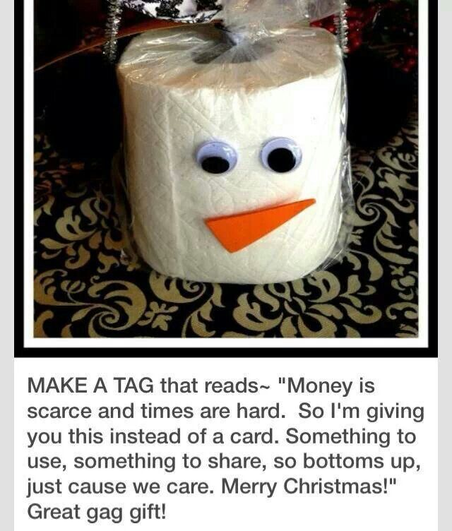 Gag Gifts For Christmas Party: Toilet Paper Snowman