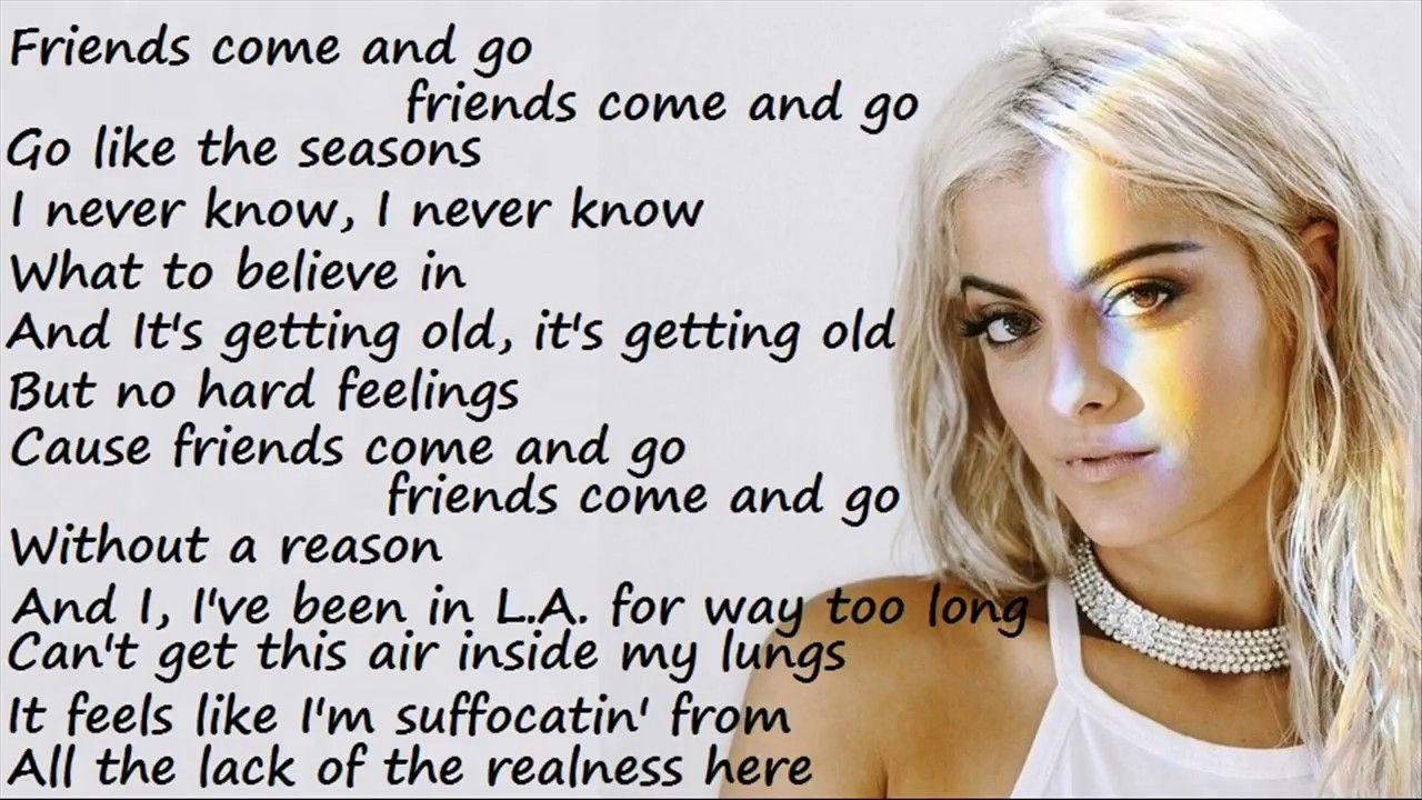 Bebe Rexha - F.F.F. (Fuck Fake Friends) ft. G-Eazy (Lyrics