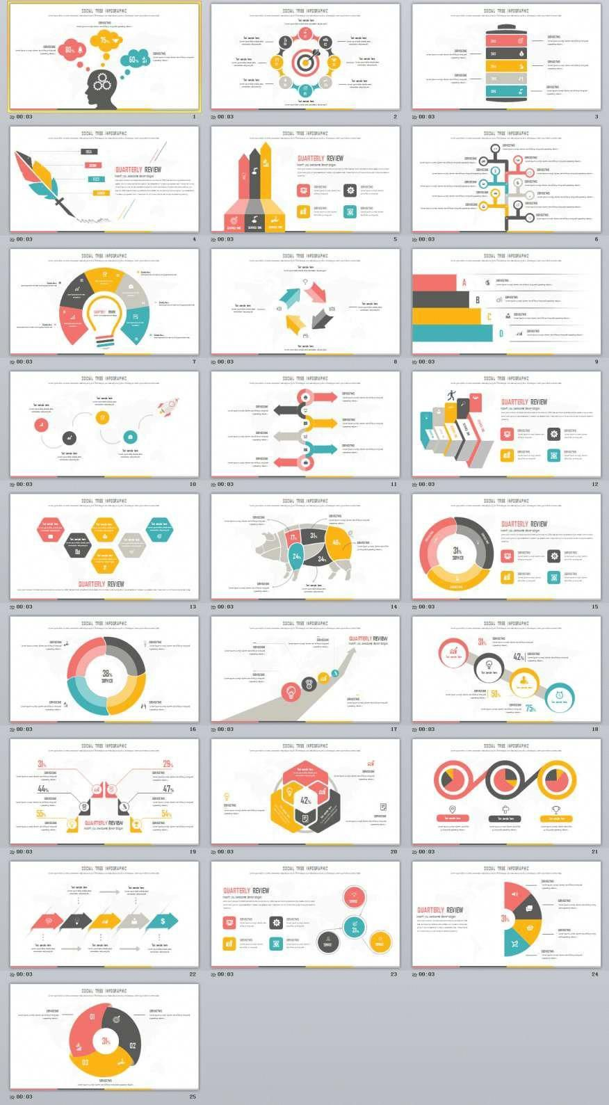 25 multicolor infographic powerpoint template