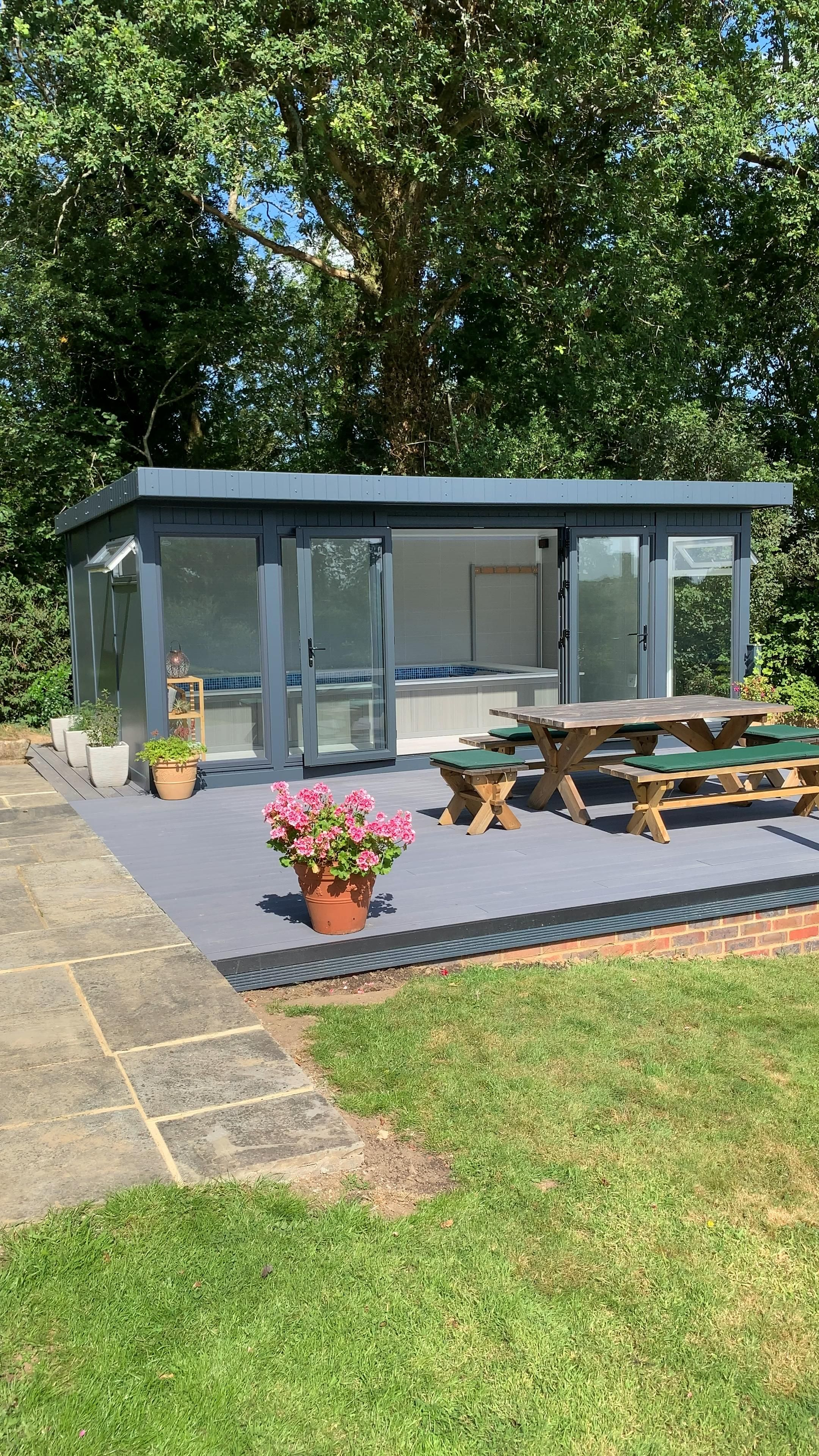 Ref 5847 Contemporary Garden Room Feat Endless Pool Decking Area Sussex Video In 2020 Contemporary Garden Rooms Endless Pool Garden Room 400+ garden and backyard landscape design ideas