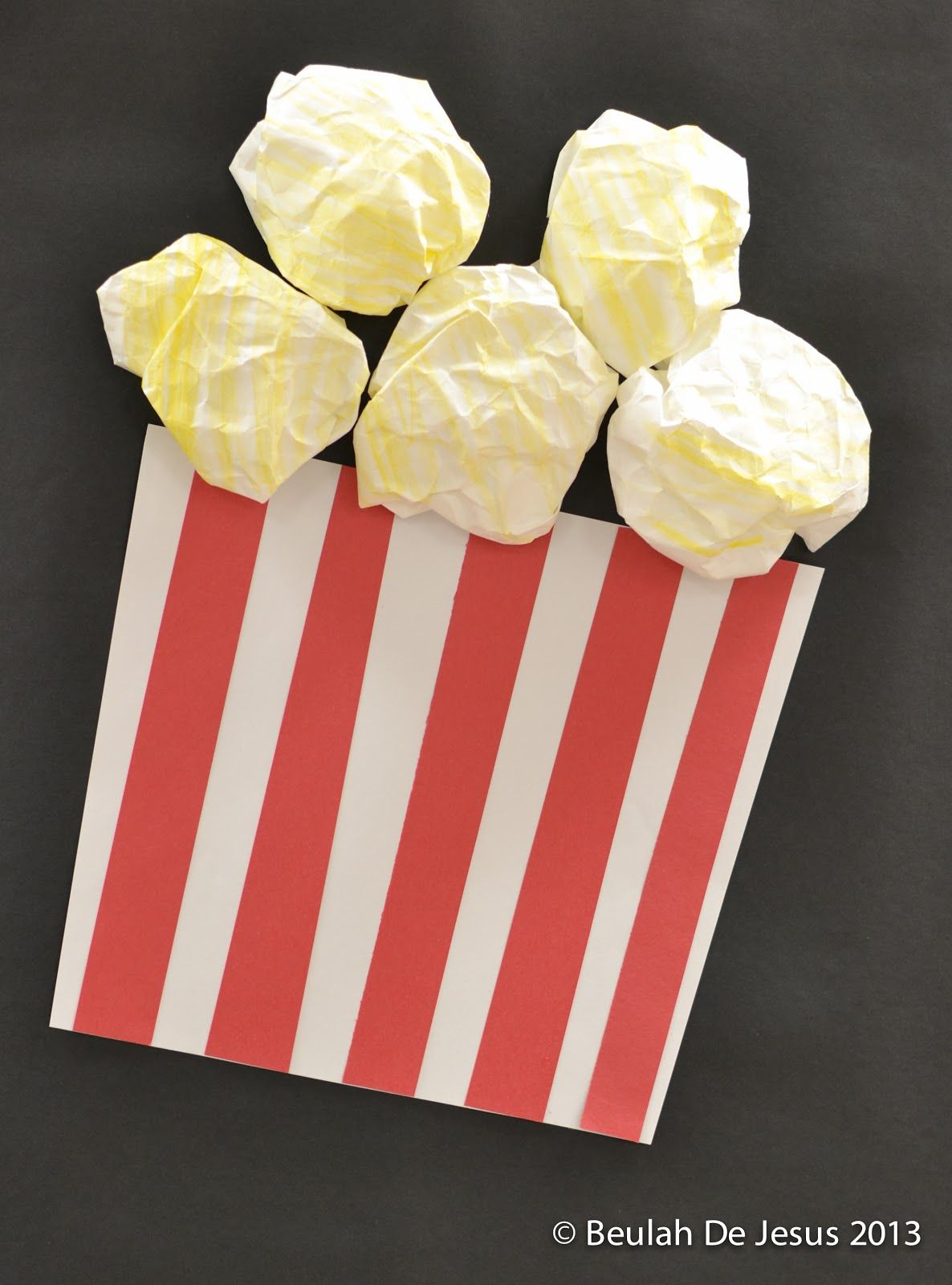 Paper Popcorn For Display