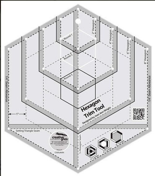 Rulers & Templates - Creative Grids - CGRJAW4 - Hexagon Trim Tool ...