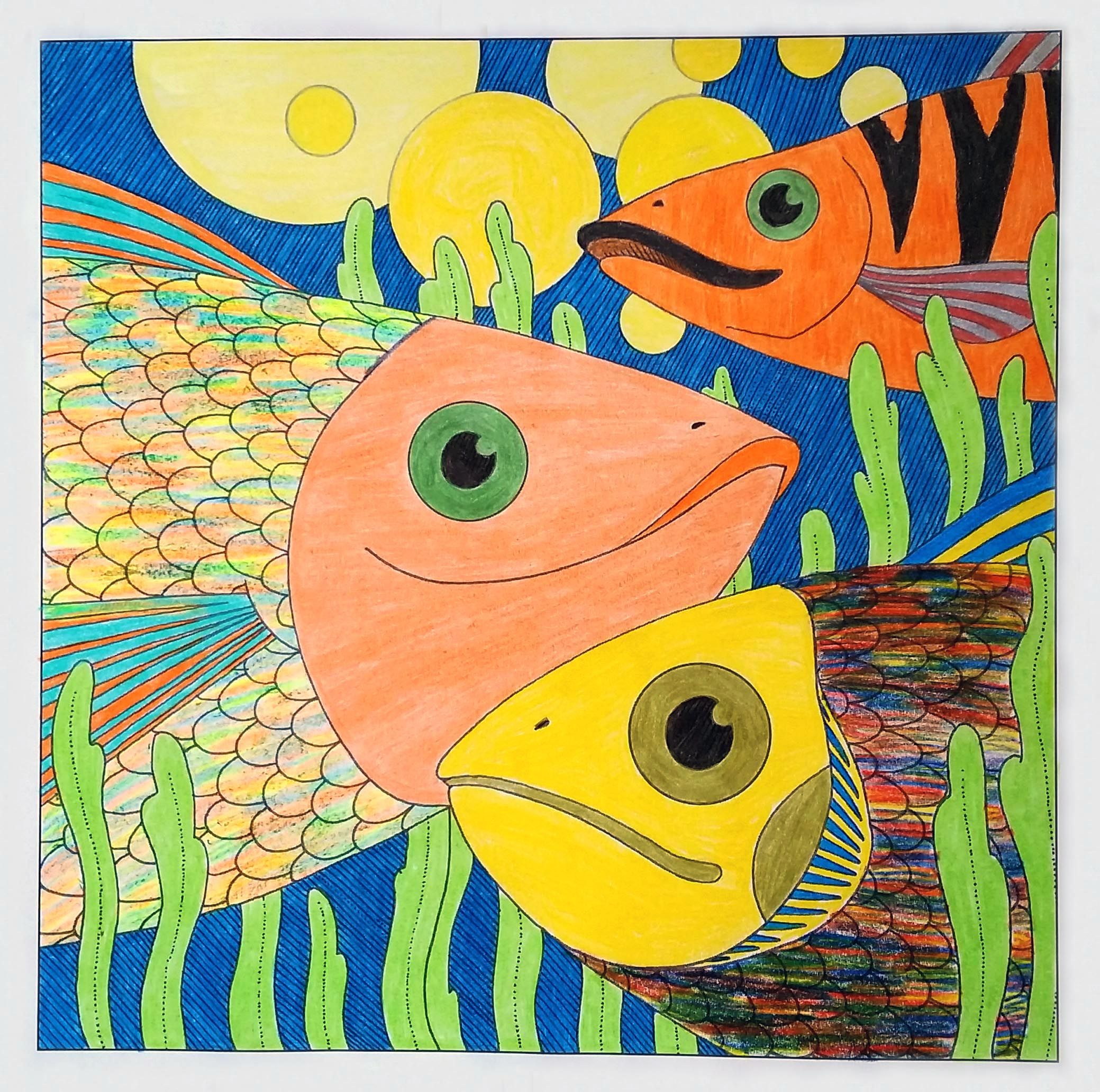 Colored From A Brother S Grimm Coloring Book By Adam Fisher Mermaid Cat Coloring Books Painting