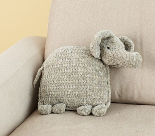 Ravelry Ellie The Elephant Pillow Free Pattern By Lion Brand Yarn