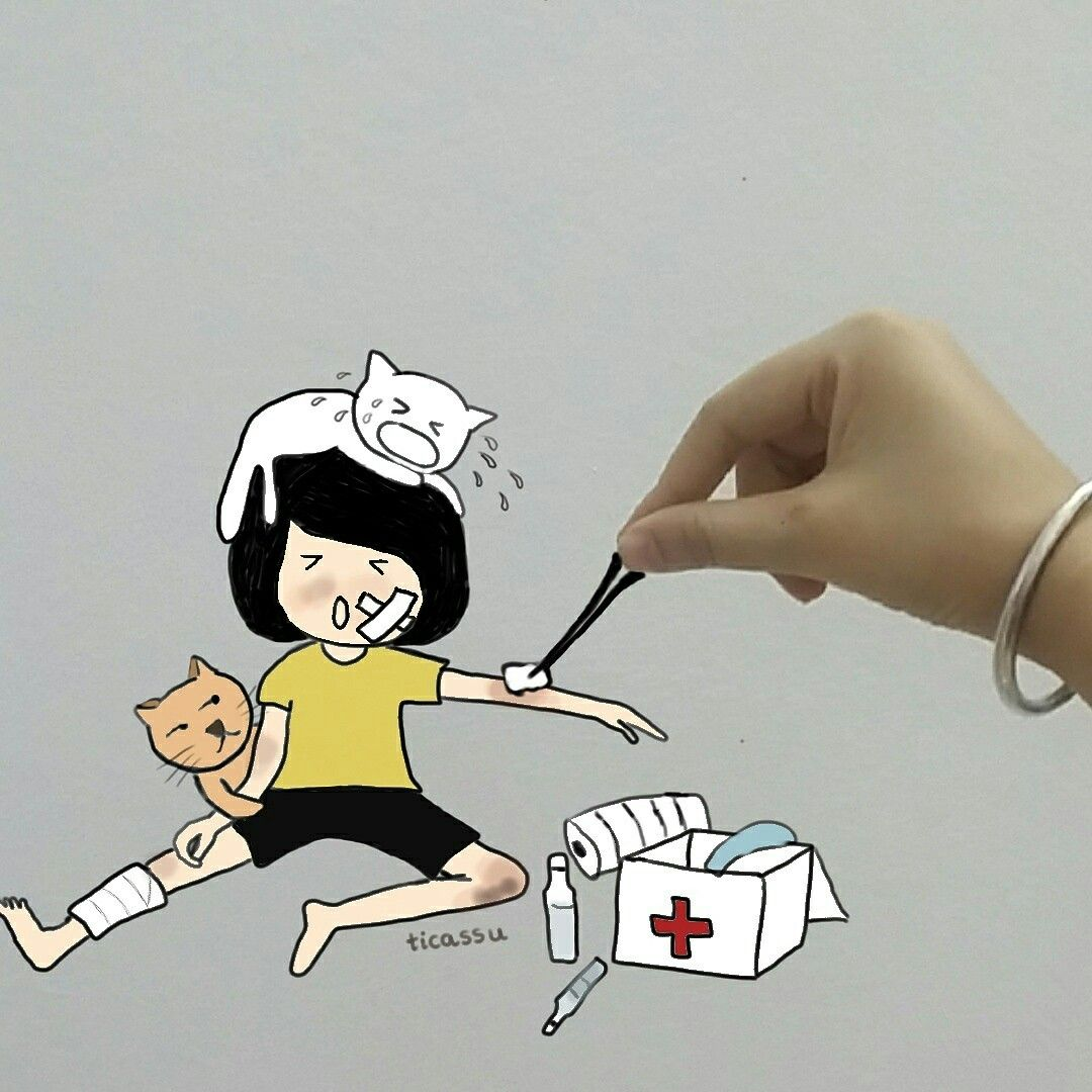 hurt #getwellsoon #sweetcat #kitten #medical #drawing #life #sport ...
