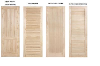 Puertas de exterior e interior puertas macizas en madera de pino obra pinterest - Puertas macizas interior ...