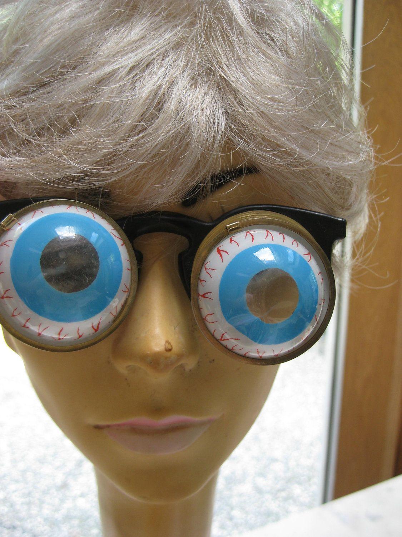 vintage joke googly eye glasses by vintagebythepound on etsy