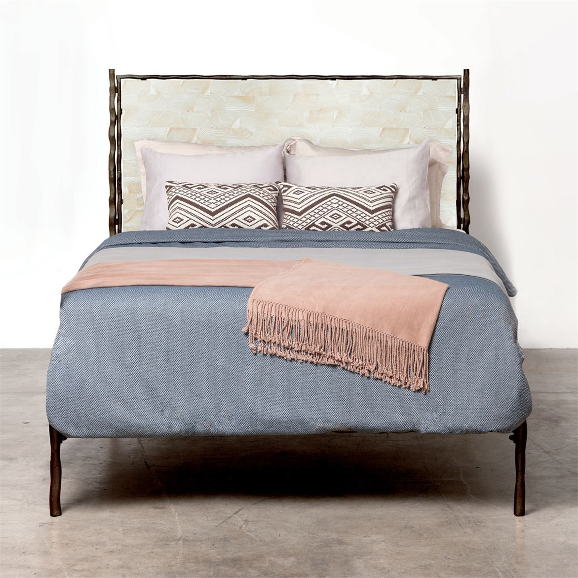 Made Goods Iron bed frame, Bed furniture, Iron bed