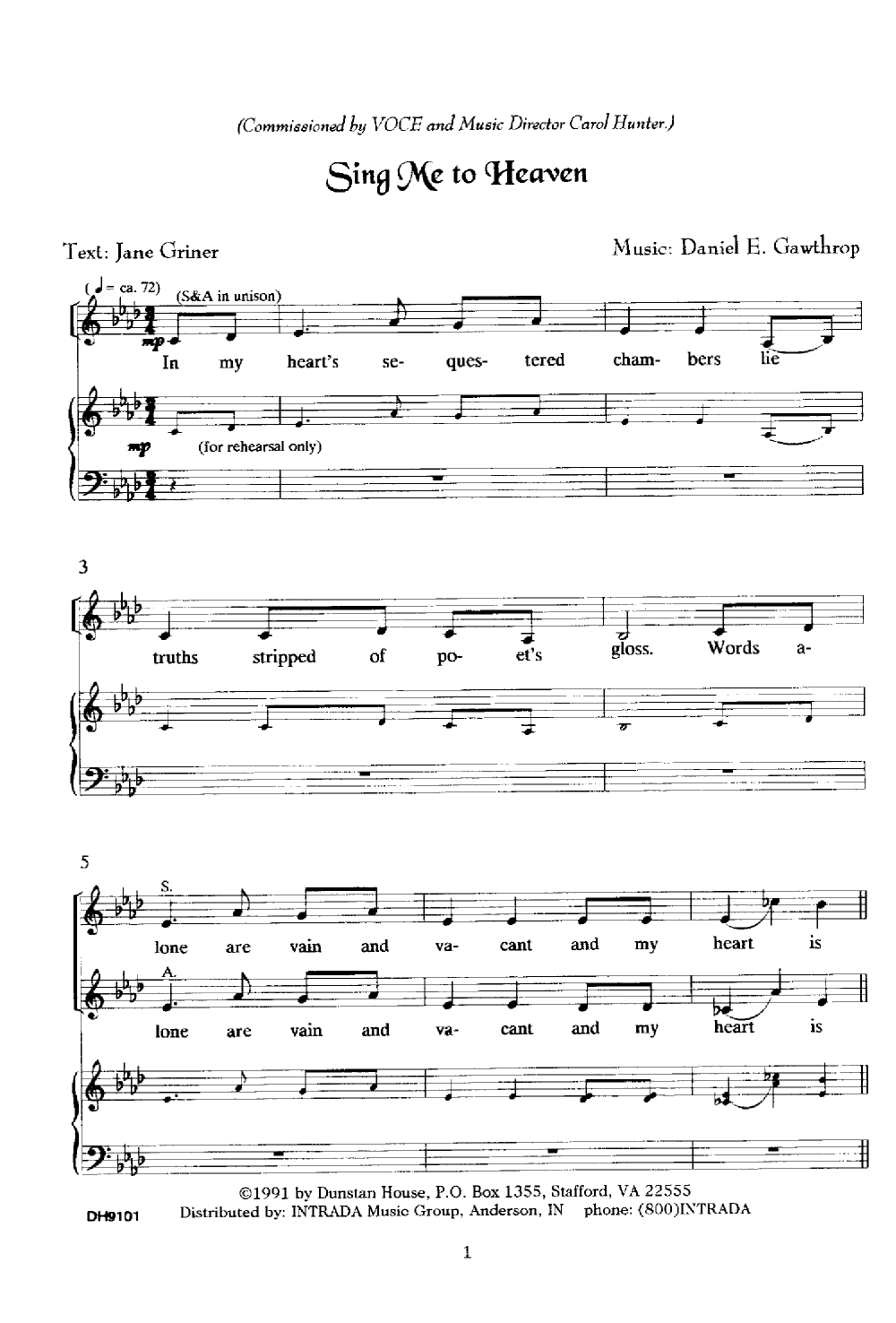 Sing Me To Heaven Satb By Daniel Gawthrop Jw Pepper Sheet