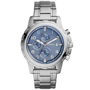 09e5a255c69  ELETROMOB Relógio Masculino Fossil Cronógrafo Pulseira De Aço Prata -  R 409