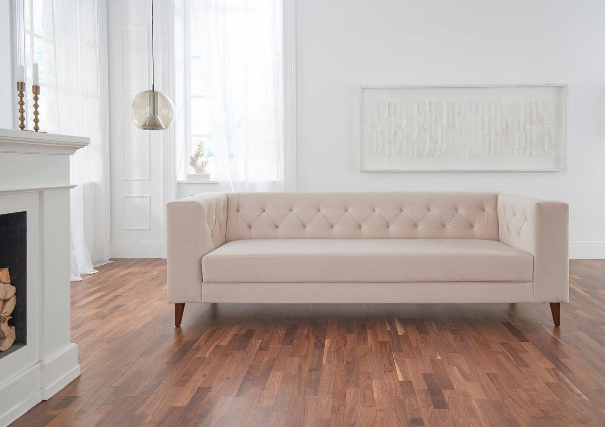 3 Sitzer Evelin Mit Knopfheftung 3 Sitzer Sofa Sofas Und Sofa Mit Schlaffunktion