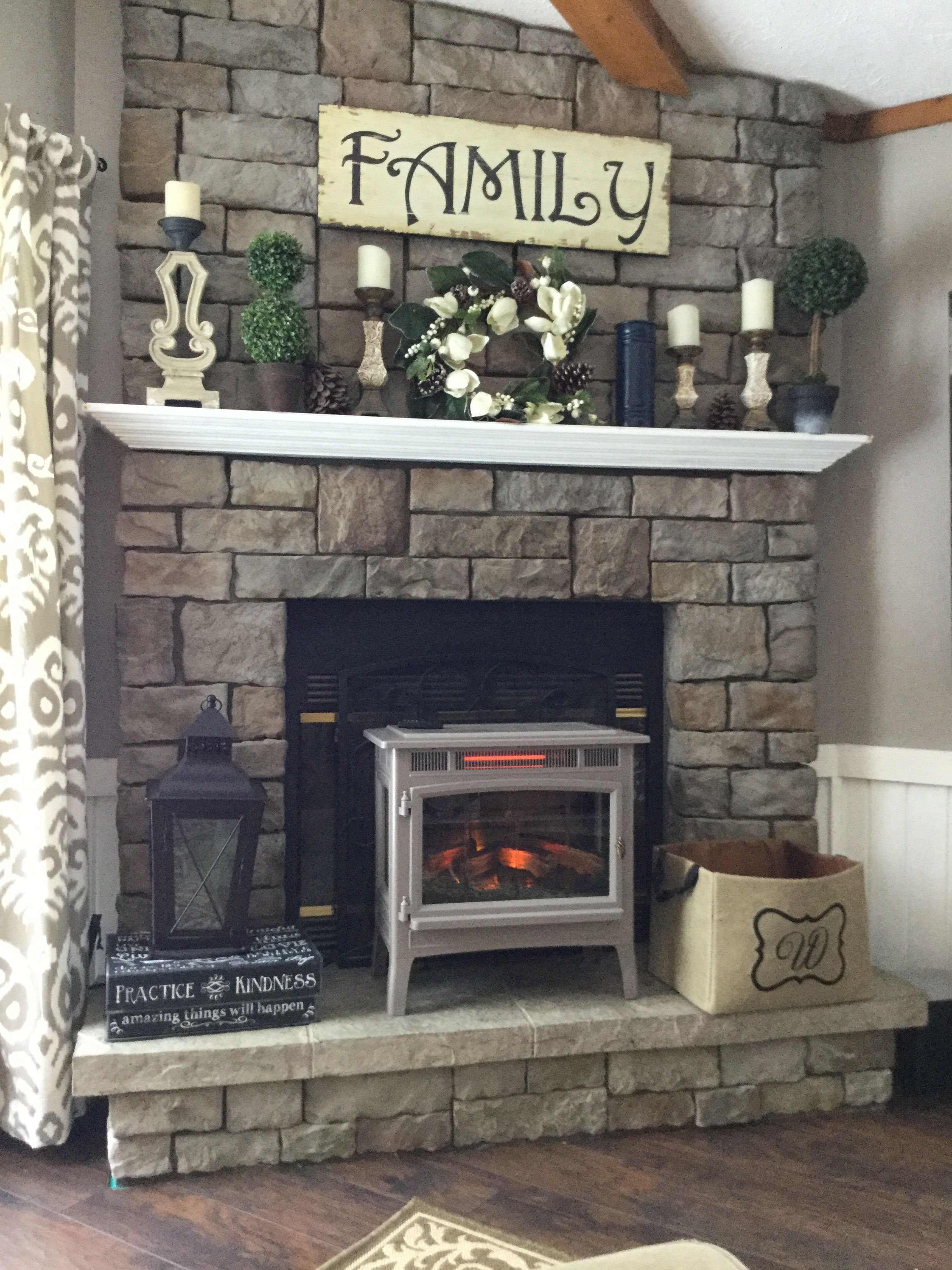 Pin By Jovy Rios On Our Nest Our Home Fireplace Mantle Decor Brick Fireplace Makeover Rustic Fireplace Mantle