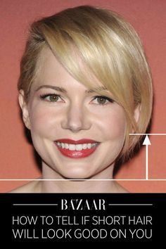 The quick and easy test to see whether you would look good with a short haircut: