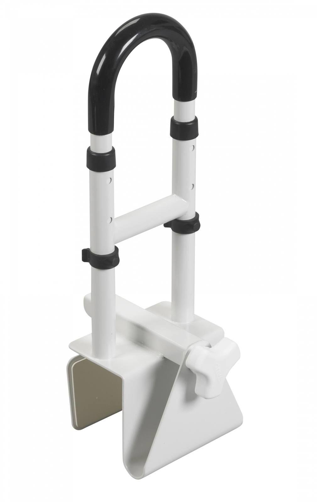 Adjustable Height Bathtub Grab Bar Safety Rail | Bathroom Safety ...