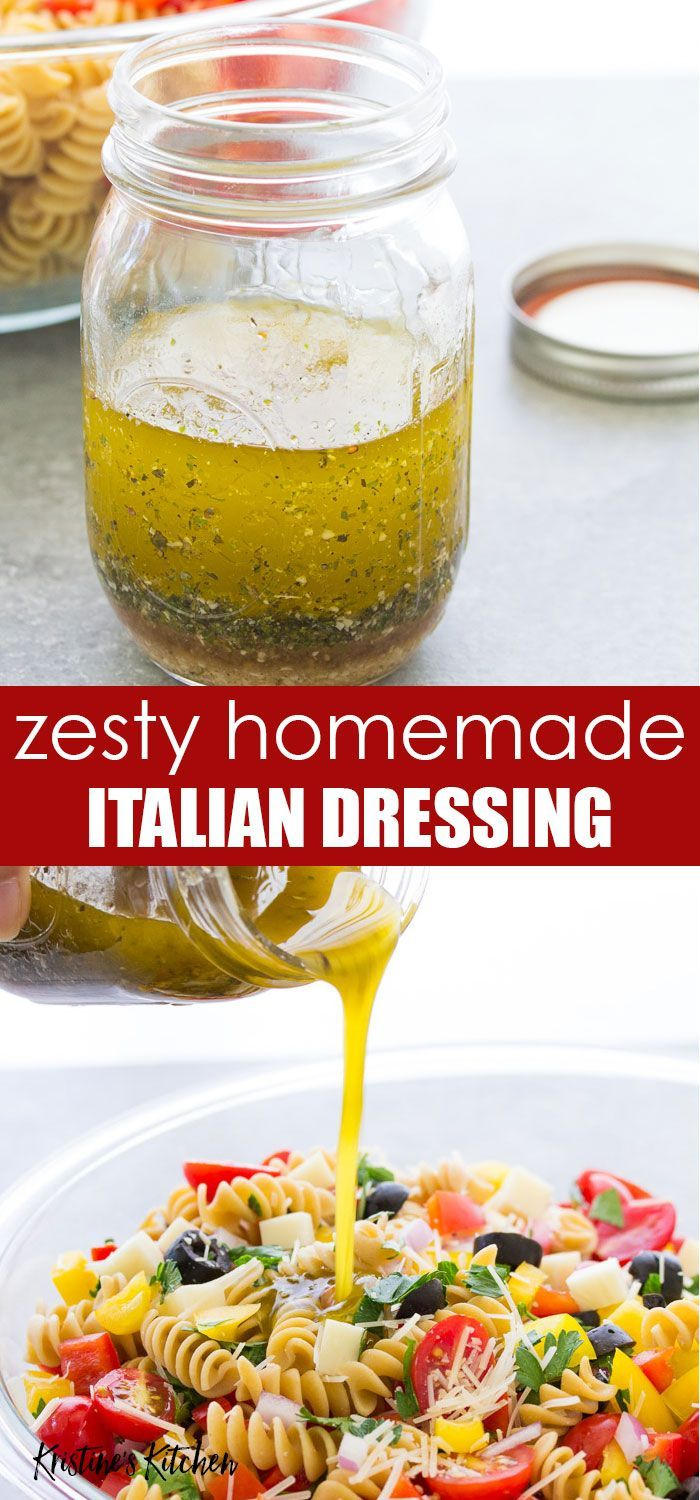 Zesty Fresh And Flavorful Homemade Italian Dressing Recipe This Healthy Italia Italian Dressing Recipes Homemade Italian Dressing Easy Salad Dressing Recipes
