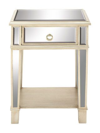 1 Drawer Side Table By Uma At Gilt