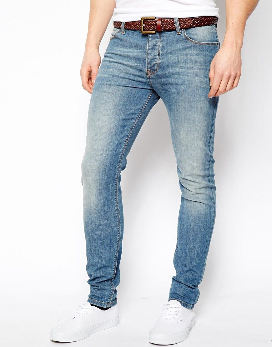 Nudie Tight Long John Grey Blues Wash Skinny jeans for men have ...