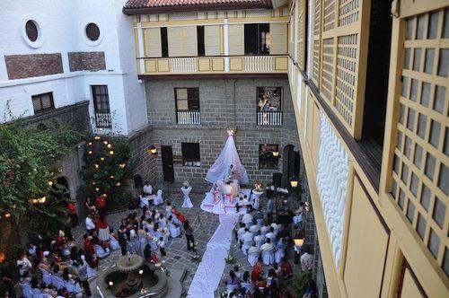 Casa Manila Patio Wedding Reception Decorations Reception Decorations Wedding Reception