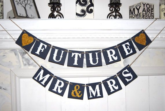Bridal Shower Decorations Banner Mr Mrs Banners by BannerArt