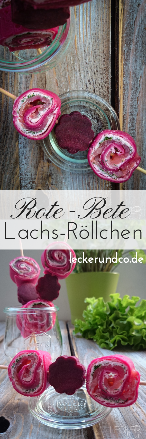 Photo of Beetroot salmon rolls in salad packs for a picnic LECKER & Co | Food blog from Nuremberg