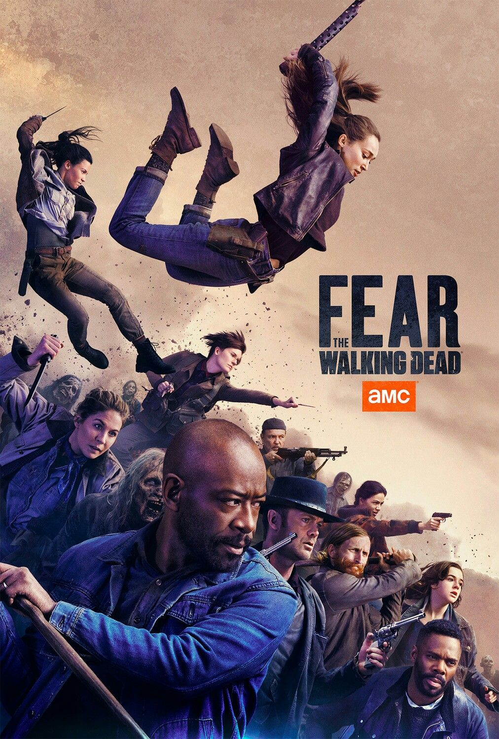 New Comic Con Poster For Amc S Fear The Walking Dead The Walking Dead Poster Fear The Walking The Walking Dead Movie