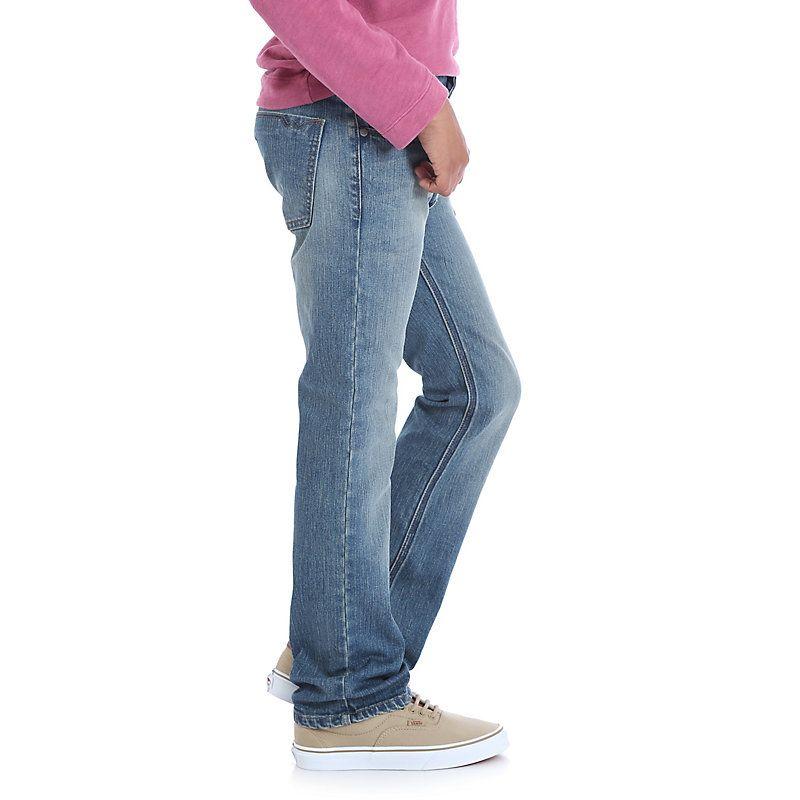 8f3d07ebd Wrangler Boys' Jeans Co. Premium Slim Fit Jean (Husky) Light Blue