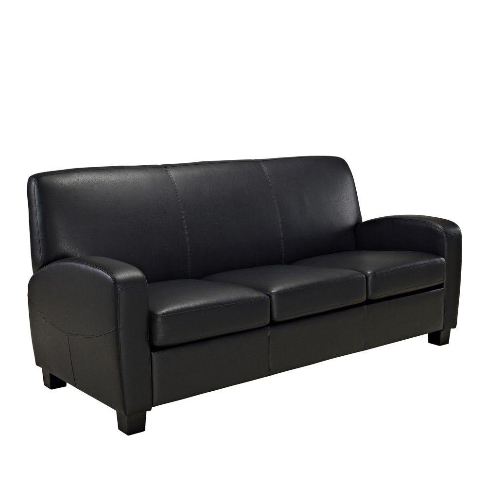 Dallas Faux Leather Sofa Black - Dorel Living | Products | Faux ...