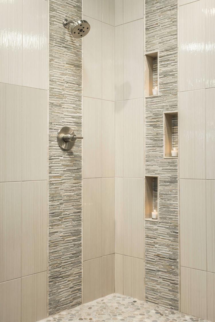 75 Bathroom Tiles Ideas For Small Bathrooms Bathroom Remodel Shower Modern Shower Design Patterned Bathroom Tiles