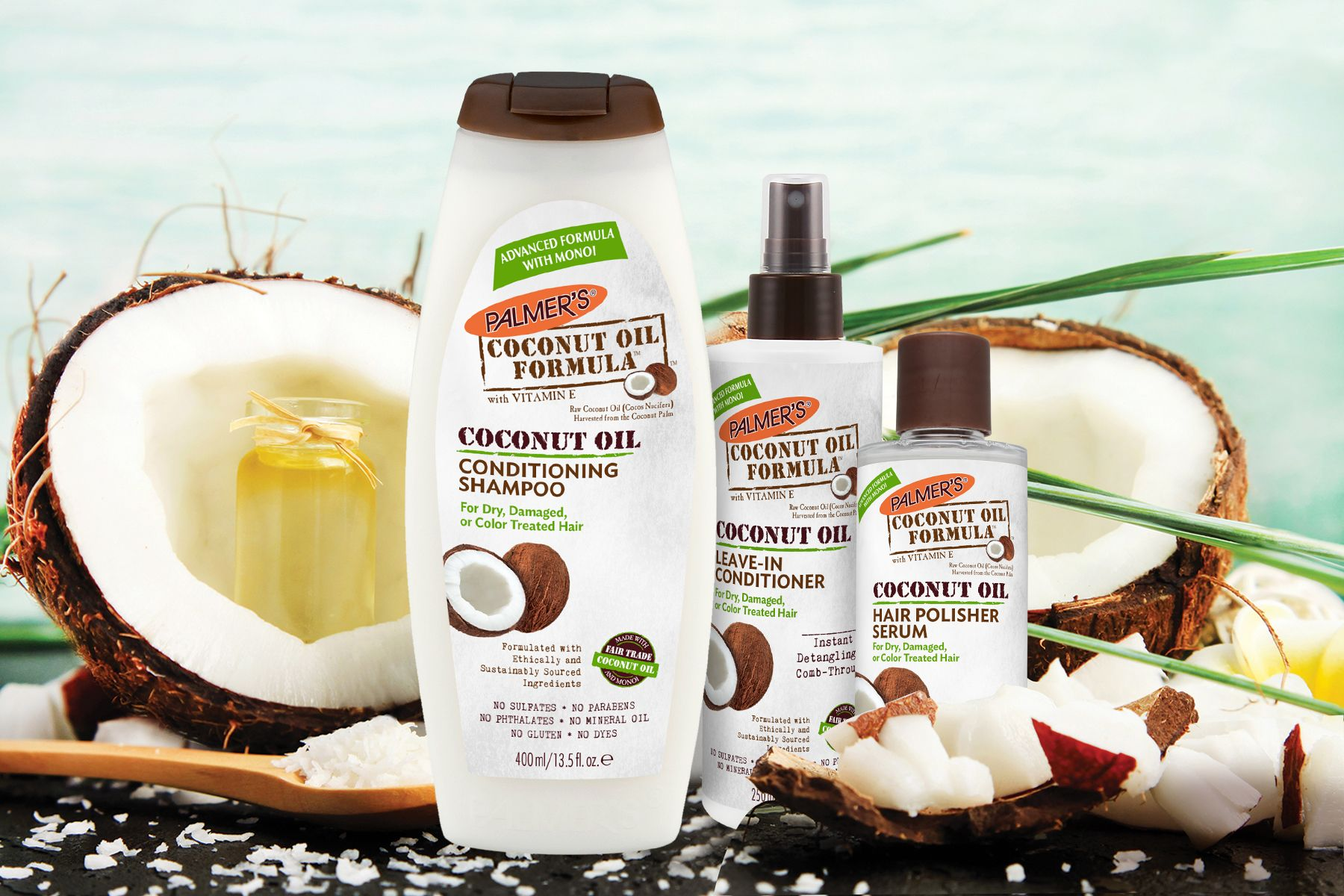 Add shine hydration to your hair with palmers coconut