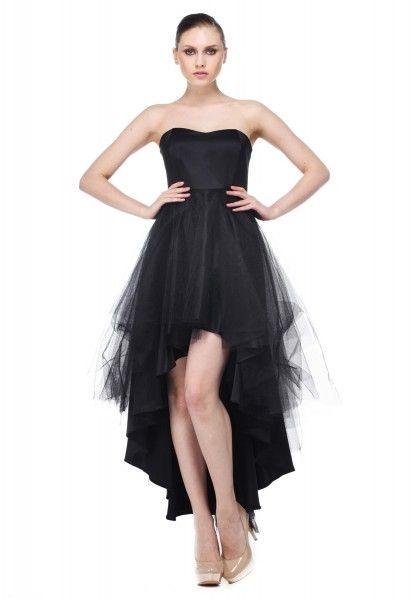 önü kısa arkası uzun abiye elbise modelleri  Siyah Önü Kısa Arkası Uzun  Abiye Modelleri 441396c4333f