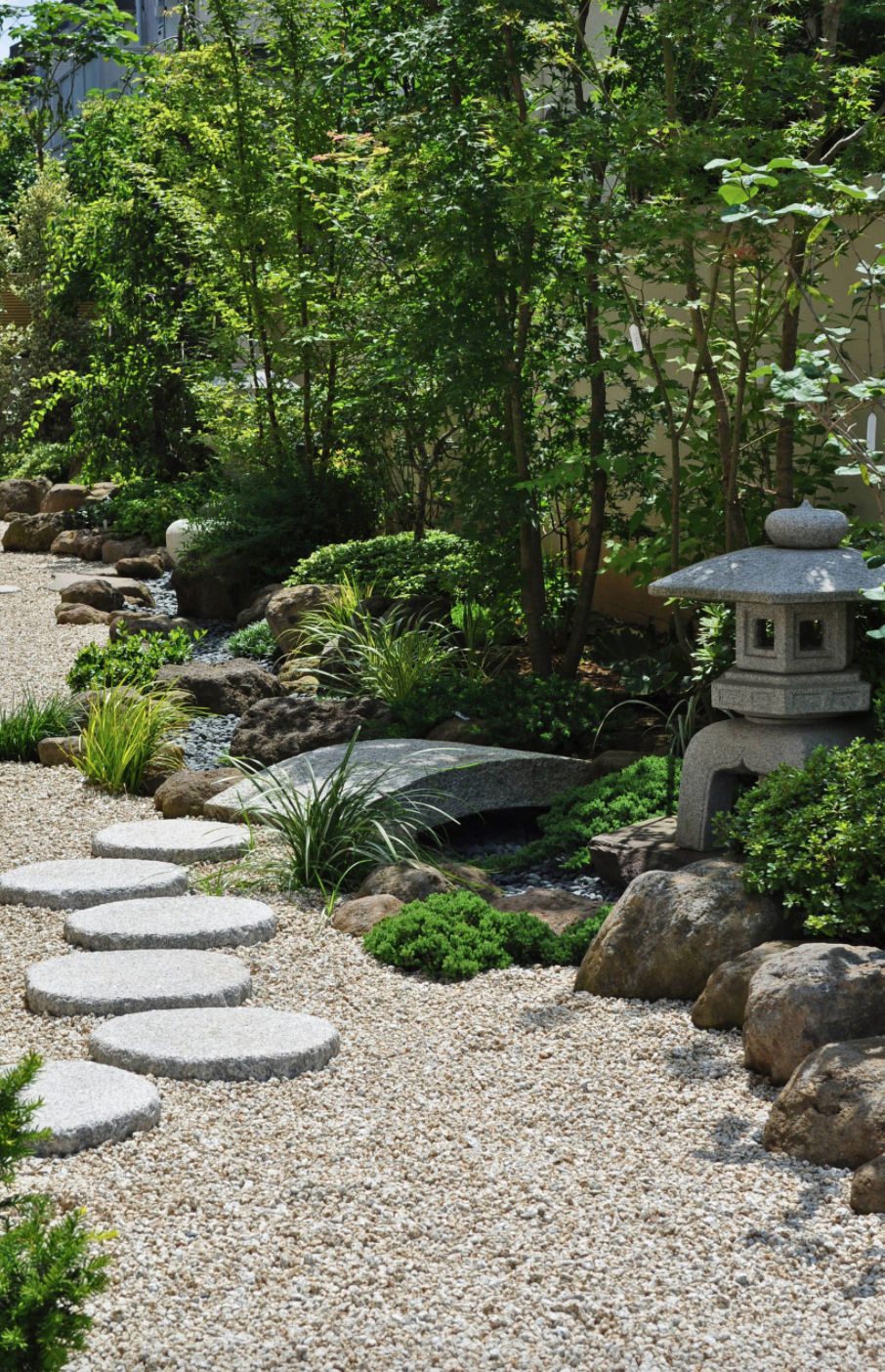 Japanese Stone Garden Japanese Zen Garden With Foot Stones And