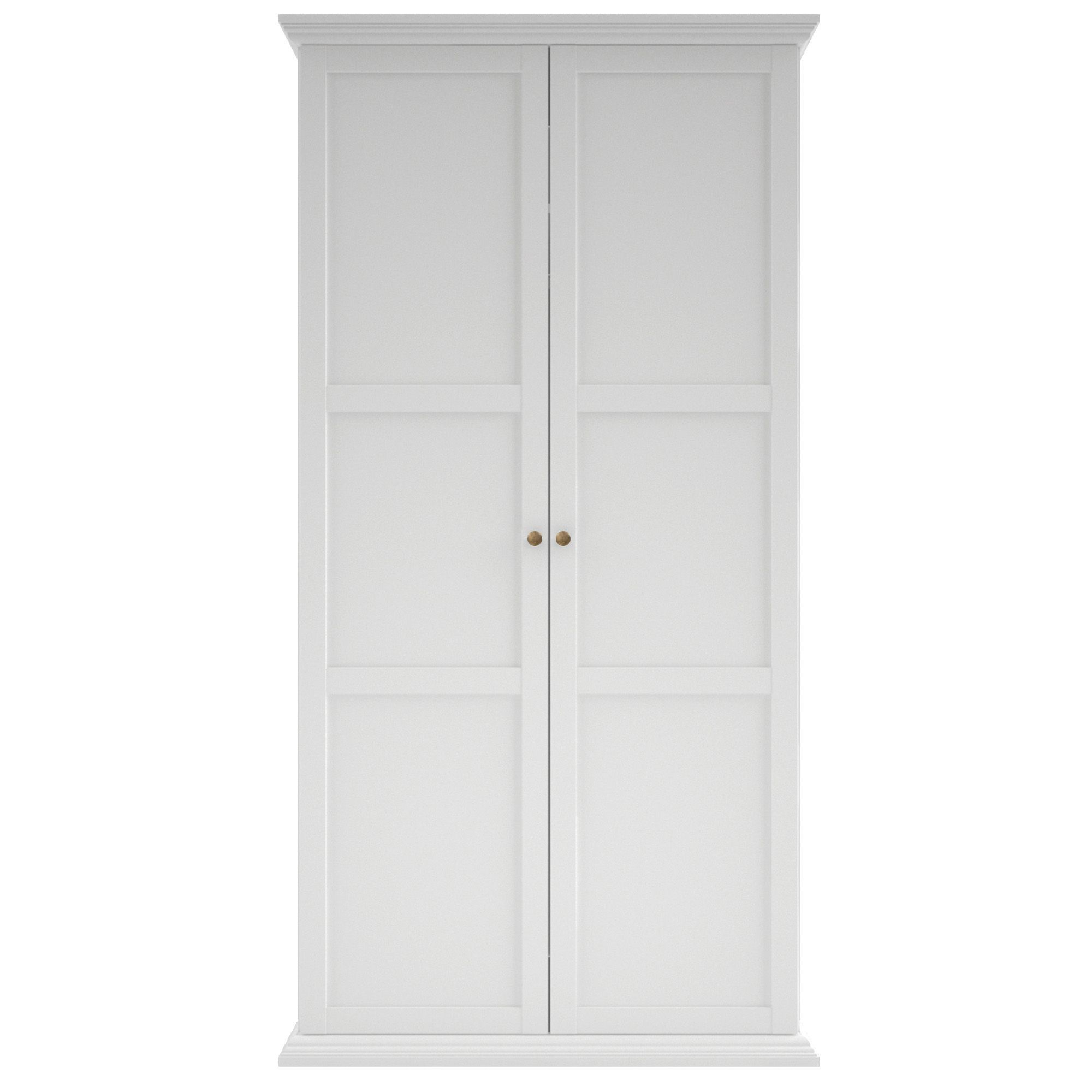 Isabella White 2 Door Wardrobe (H)2030 mm (W)1.043 M |