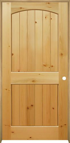Mastercraft 36 X 80 Planked Knotty Pine Arched 2 Panel Int Door Lh At Menards Pine Interior Doors Prehung Interior Doors Knotty Pine Doors
